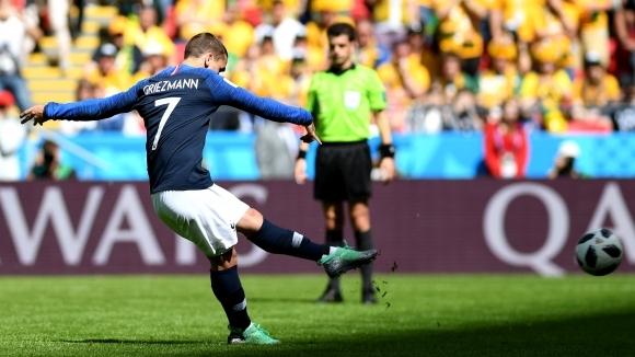 С гола си от дузпа срещу Австралия нападателят на Франция