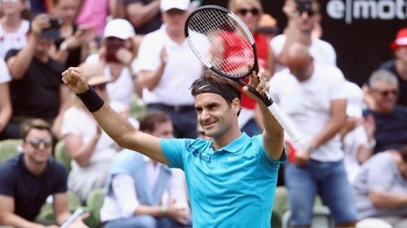 След като пропусна сезона на клей, Роджър Федерер завърши първата