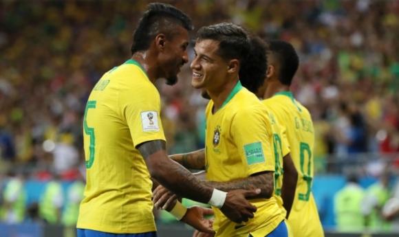 Полузащитникът на Бразилия Филипе Коутиньо вкара страхотен гол срещу Швейцария,