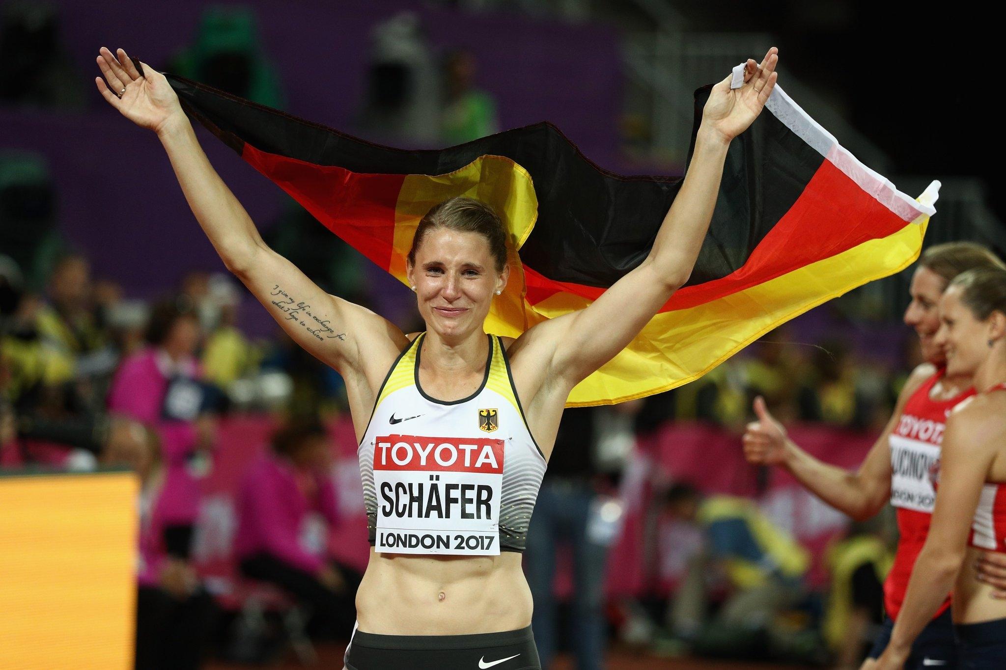 Сребърната медалистка в седмобоя от Световното първенство в Лондон през