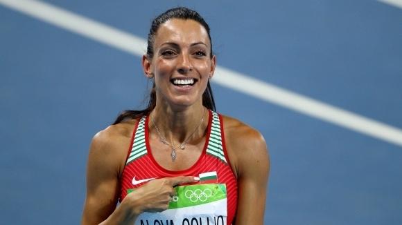 Ивет Лалова-Колио завърши трета в спринта на 100 метра на