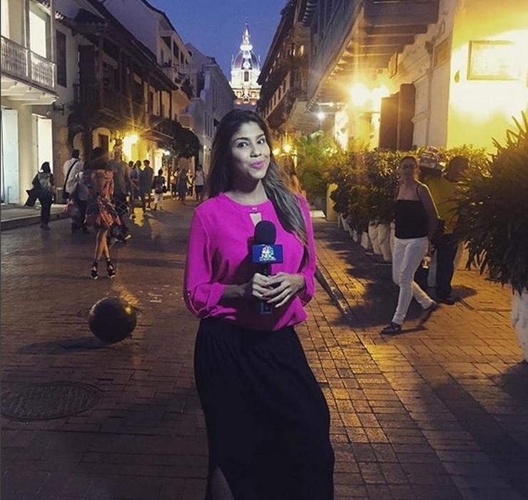 Красивата колумбийска журналистка Жулиет Гонсалес изпадна в доста неловка ситуация,
