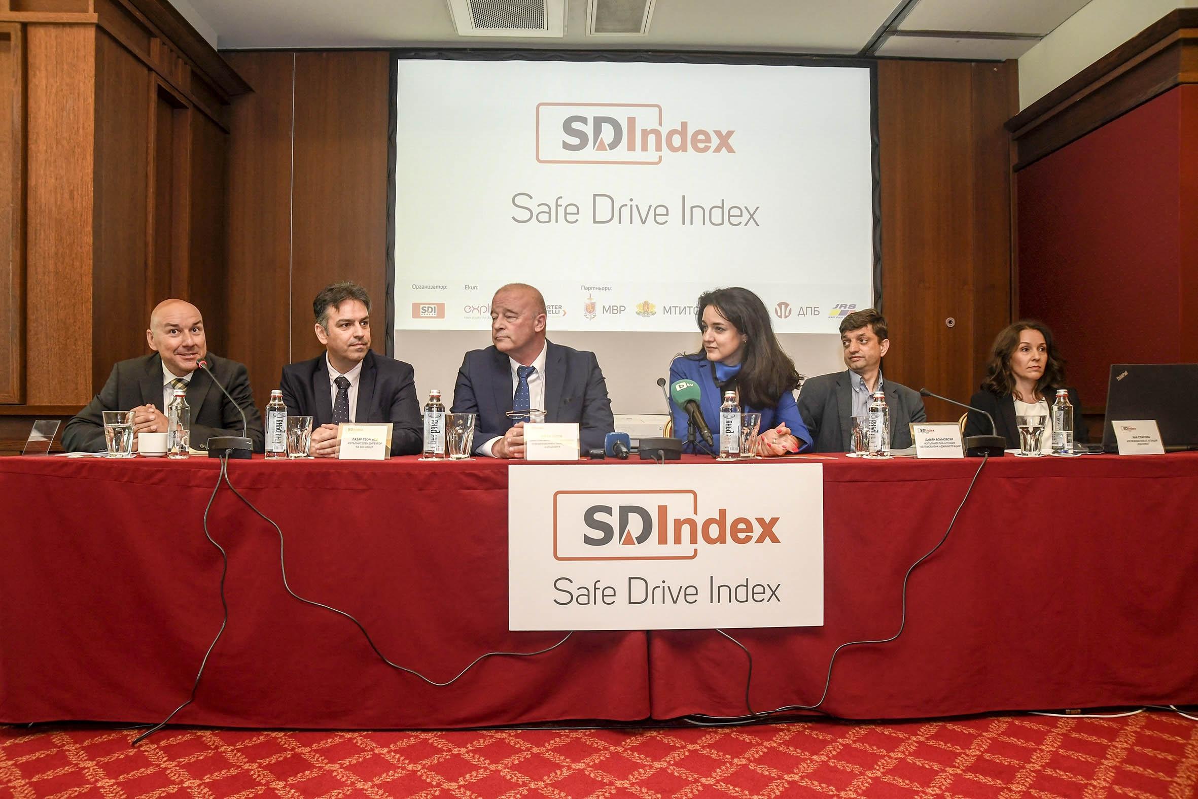 Стойността на първия национален Индекс за безопасно шофиране SDIndex –