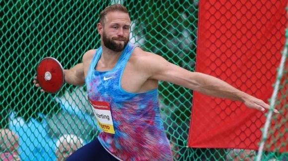 Олимпийският шампион на диск от Лондон 2012 Роберт Хартинг (Германия)