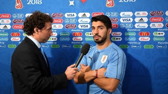 Нападателят на Уругвай и Барселона Луис Суарес изрази радостта си