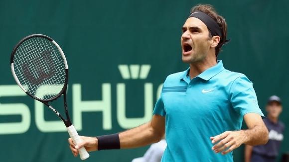 Водачът в световната ранглиста по тенис Роджър Федерер (Швейцария) се