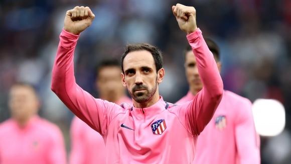 Един от ветераните в състава на Атлетико Мадрид Хуанфран официално