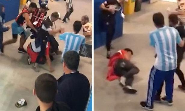 Аржентинските власти идентифицираха четиримата футболни привърженици, които бяха заснети в