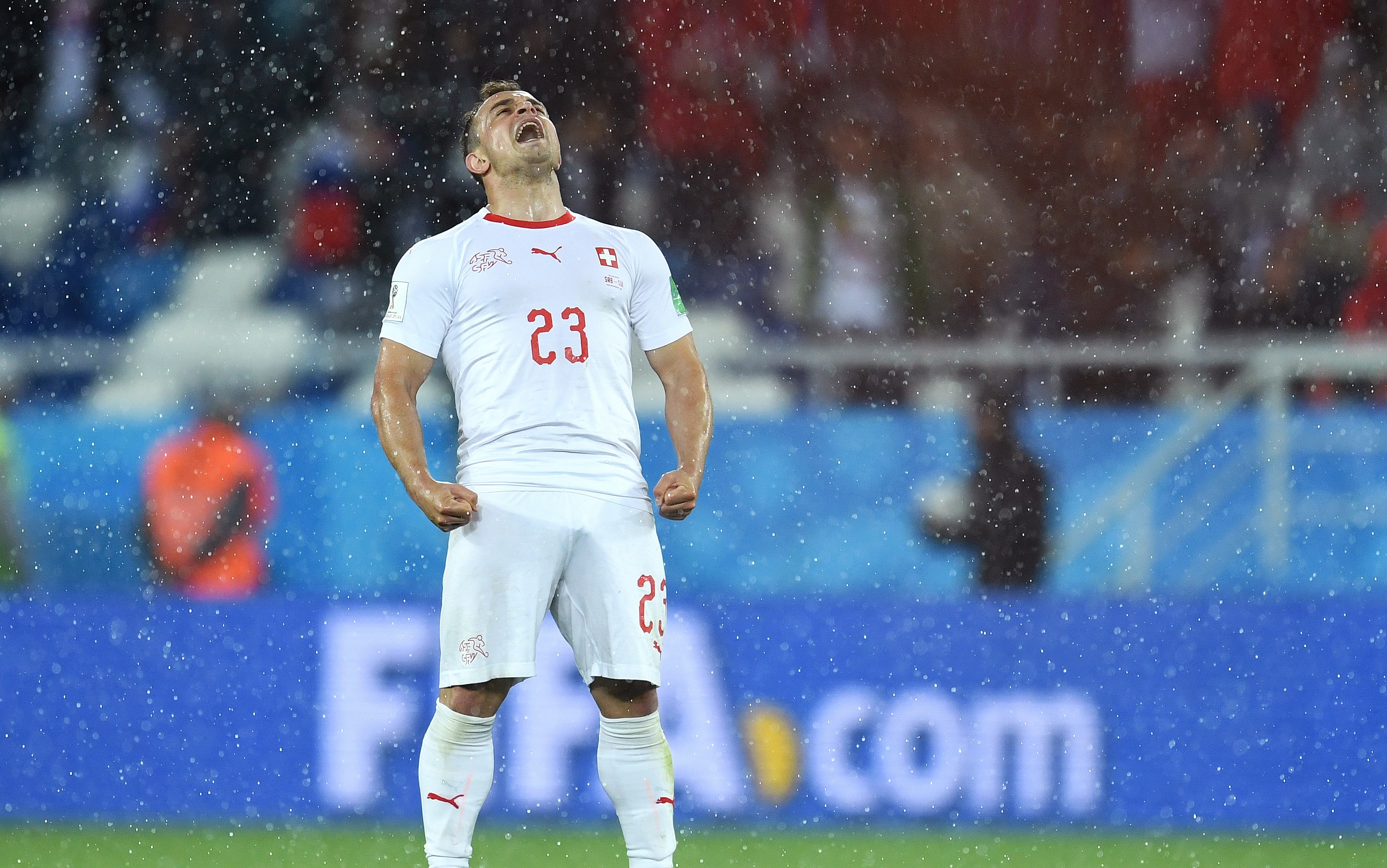 Авторът на победното попадение за Швейцария срещу Сърбия Джердан Шакири