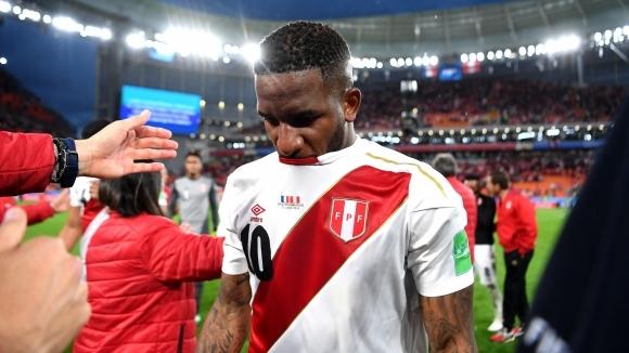Нападателят на националния отбор на Перу Джеферсън Фарфан е получил