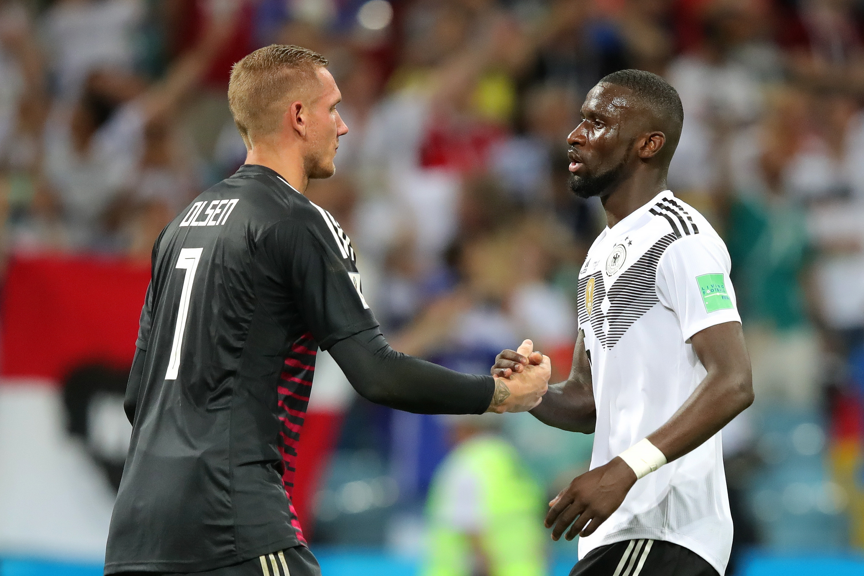 Защитникът на Германия Антонио Рюдигер беше изключително щастлив от победата