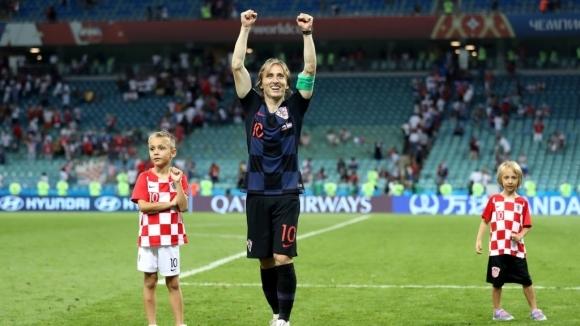 Полузащитникът на Хърватия Лука Модрич беше избран за играч на
