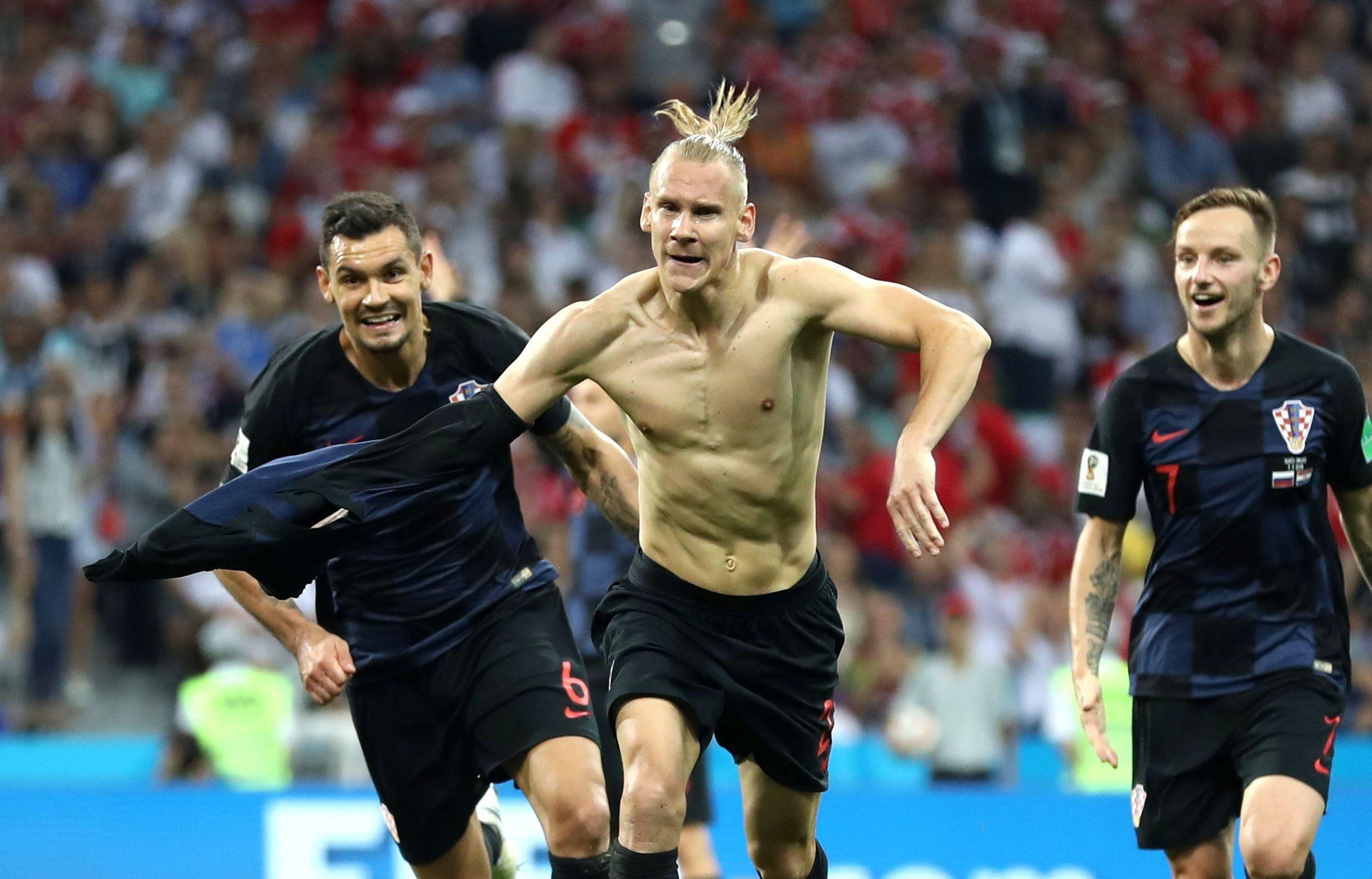 Защитникът на Хърватия Домагой Вида коментира със задоволство победата с