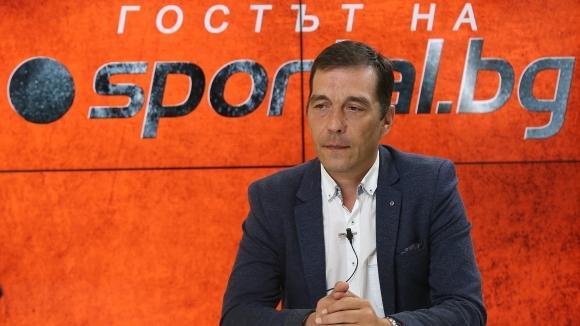 Изпълнителният директор на Лудогорец Ангел Петричев е не мнение, че