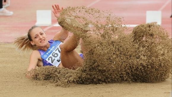 Шампионката на България Милена Миткова спечели надпреварата на скок дължина