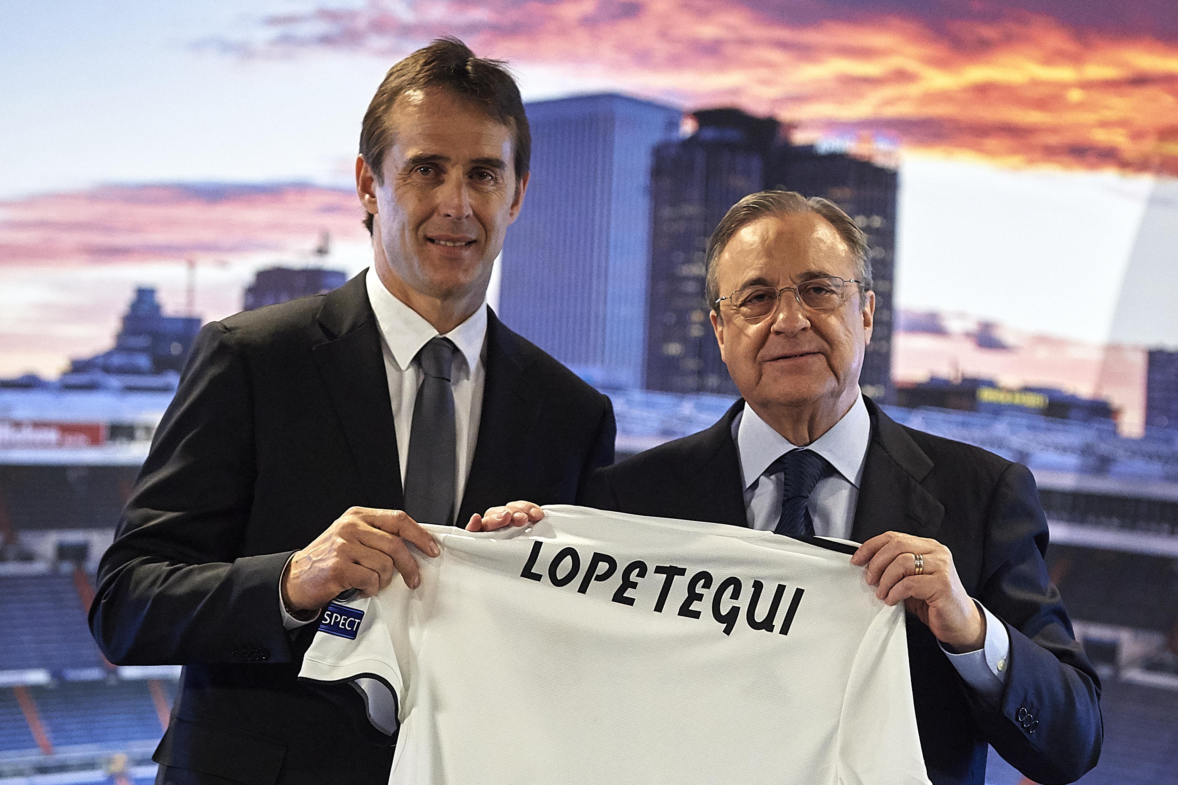 Новият треньор на Реал Мадрид Юлен Лопетеги проведе първите си