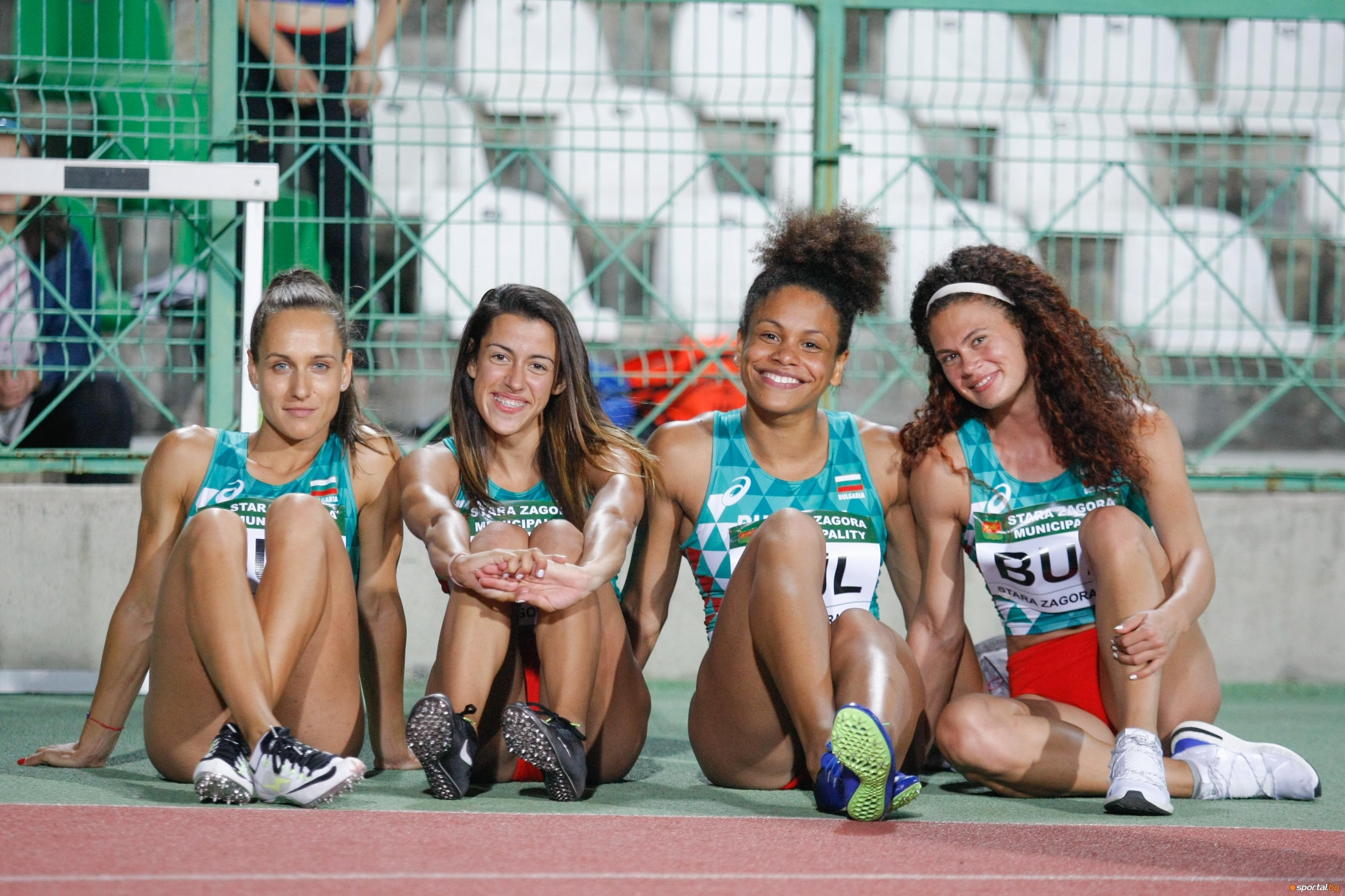 Българската женска щафета на 4 по 100 метра спечели бронзовите