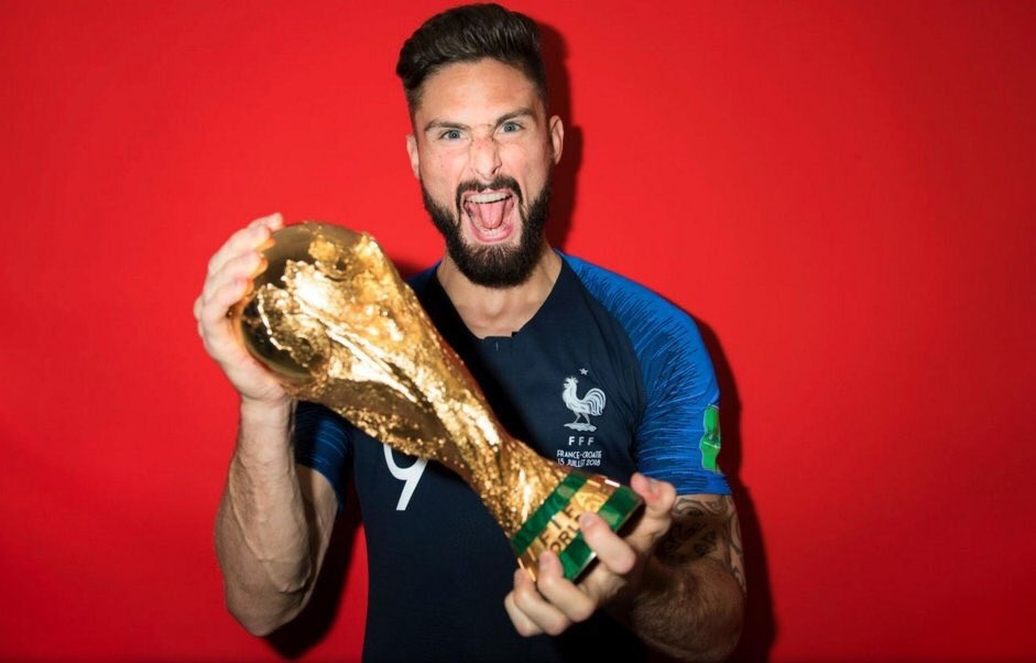 Нападателят на националния отбор на Франция Оливие Жиру спази обещанието