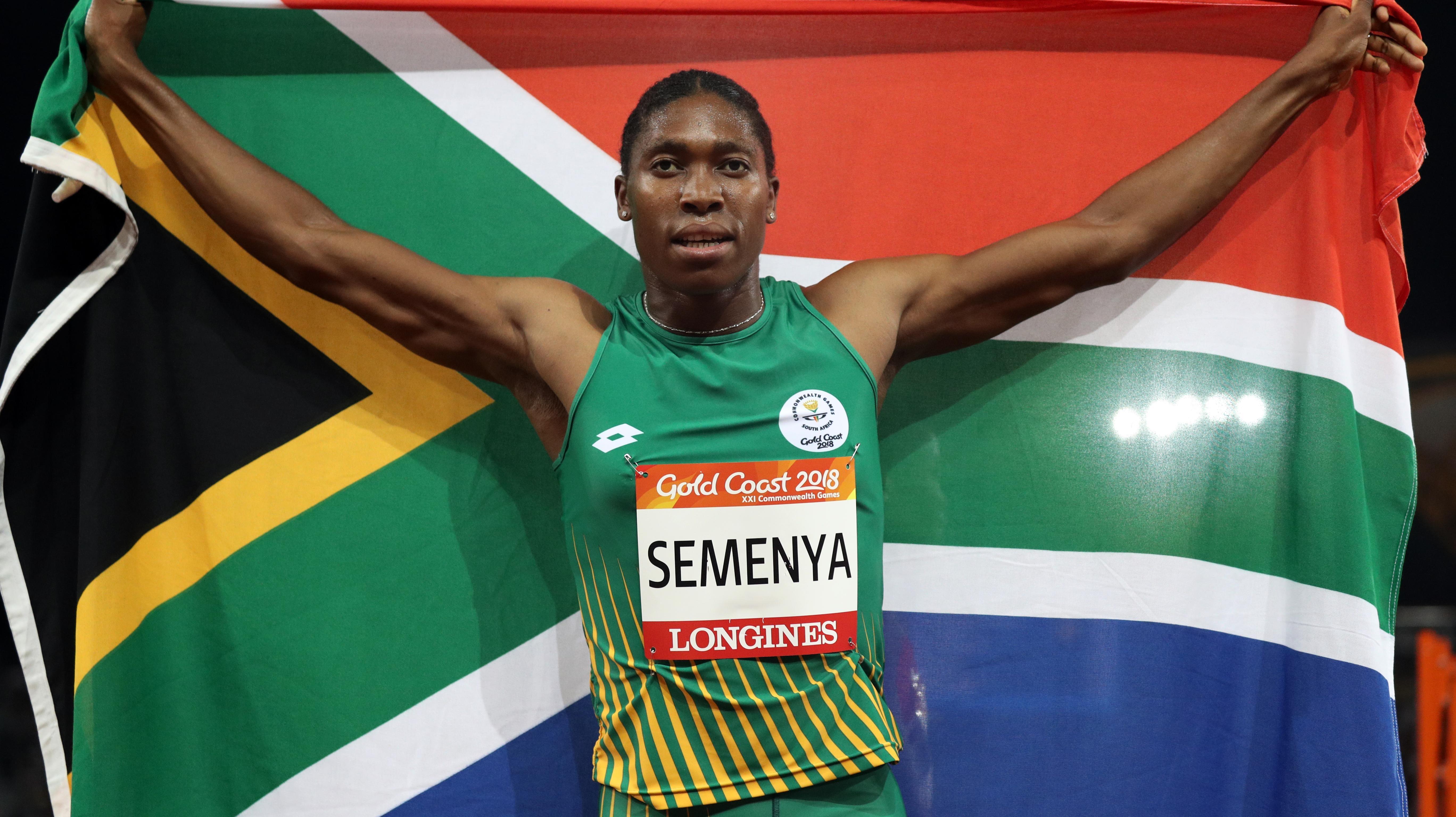 Южноафриканката лекоатлетка Кастер Семеня, позната и като жената-мъж, стана първата
