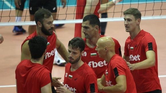 Волейболистите от националния отбор на България за мъже изиграха демонстративен