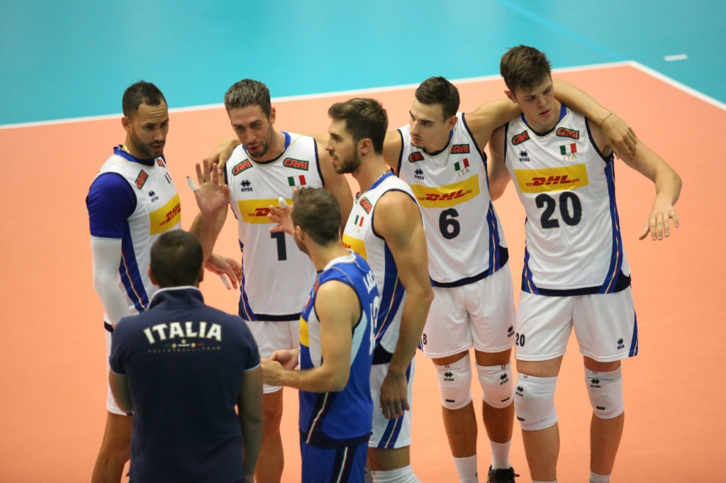 Националният волейболен отбор на Италия продължава подготовката си за Световното