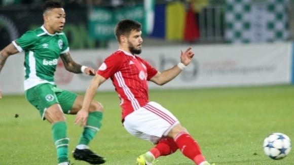 Халфът на ЦСКА-София Кристиян Малинов беше разочарован след загубата с