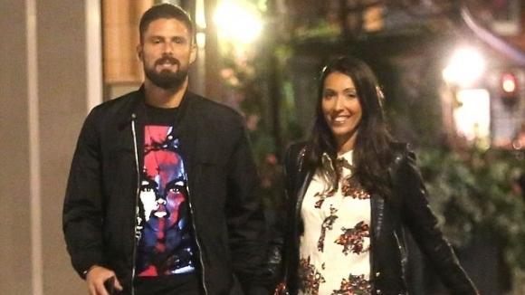Оливие Жиру се наслади на романтична вечер със съпругата си