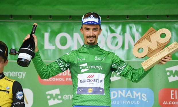 Французинът Жулиен Алафилип спечели колоездачната обиколка на Великобритания. 26-годишният Алафилип