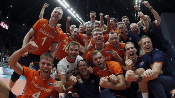 Националният волейболен отбор на Холандия продължава с невероятното си представяне