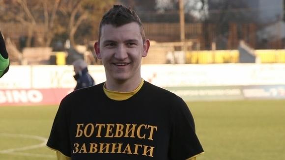 Футболистът на Ботев (Пловдив) и националния отбор - Тодор Неделев,