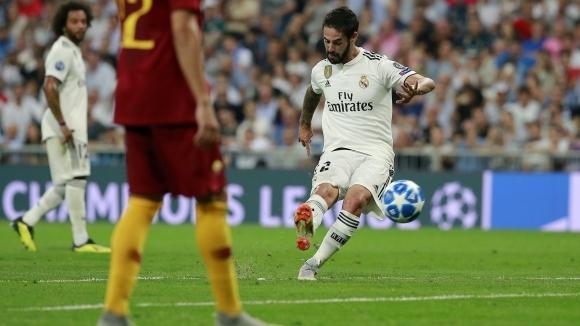 Халфът на Реал Мадрид Иско отбеляза първия си гол от