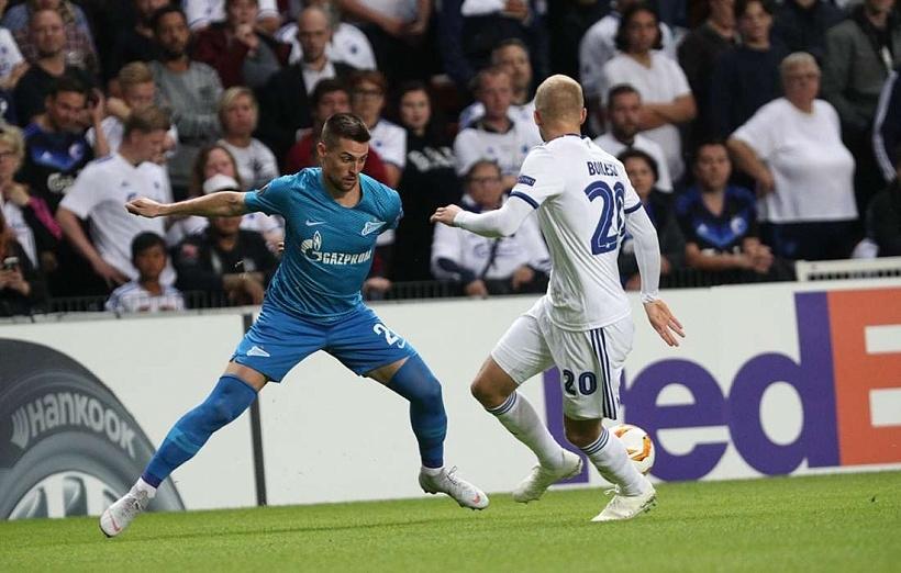 ФК Копенхаген и Зенит направиха равенство 1:1 в първи мач