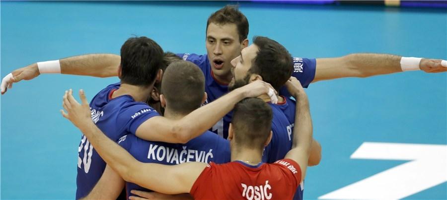 Отборът на Франция, който спечели Световната лига през 2015 и