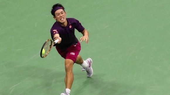 Полуфиналистът от Откритото първенство на САЩ Кей Нишикори продължава с