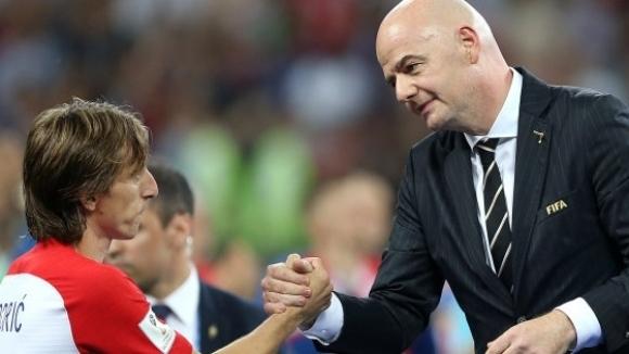 Президентът на Световната футболна федерация (ФИФА) Джани Инфантино заяви, че