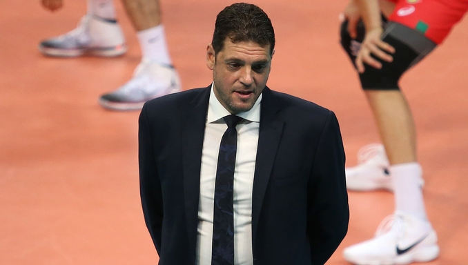 Селекционерът на България Пламен Константинов говори пред Sportal TV след