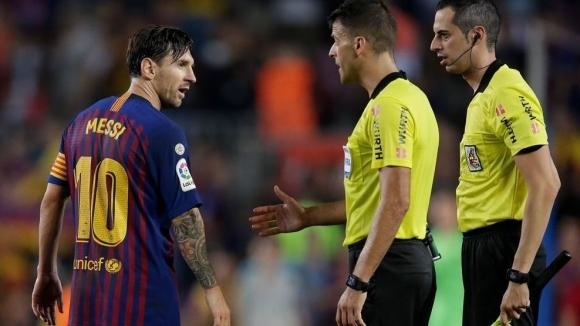Капитанът на Барселона Лионел Меси беше силно ядосан на главния