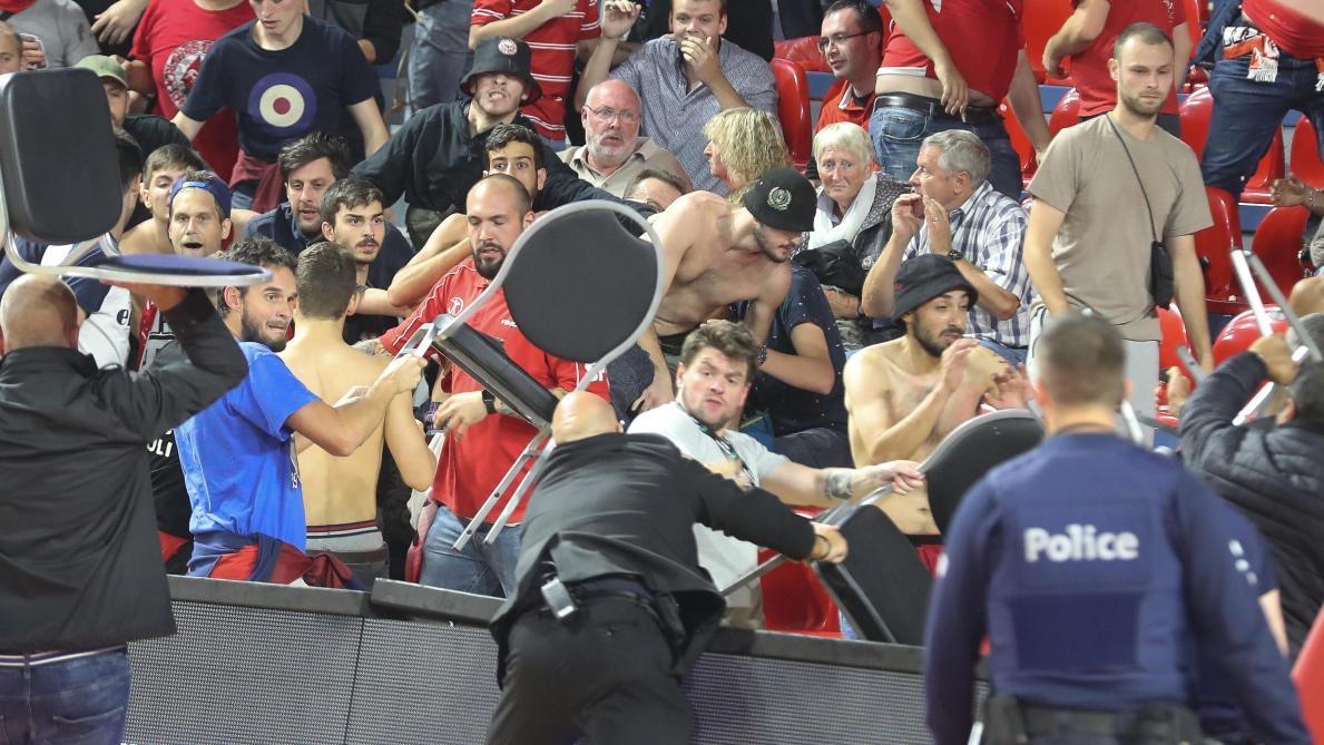 Израелски баскетболни фенове предизвикаха бой на трибуните в последната четвърт