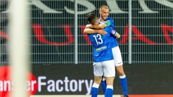 Капитанът на младежкия национален отбор Стефан Велков отбеляза първия си