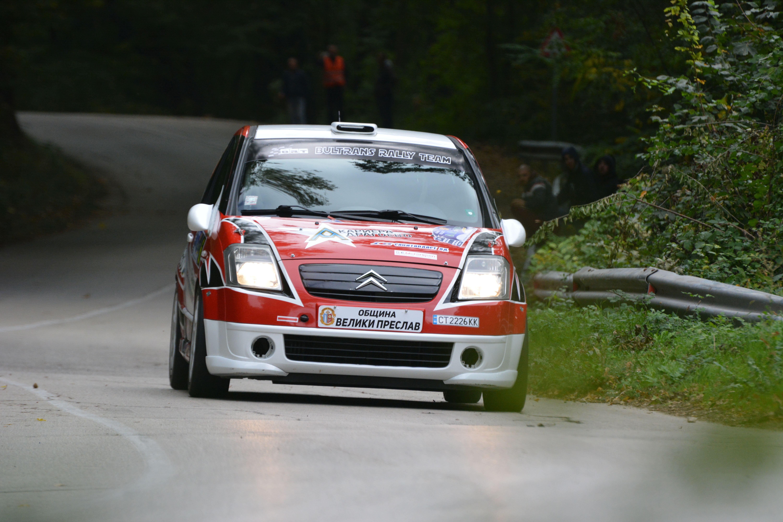 Тихомир Стратиев и Добрин Борисов (Peugeot 208 R2) спечелиха предпоследния