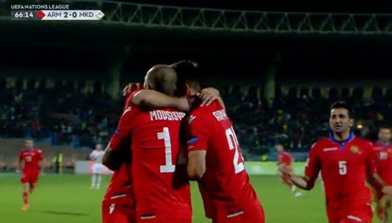 Армения нанесе първа загуба на Македония в Група 4 на