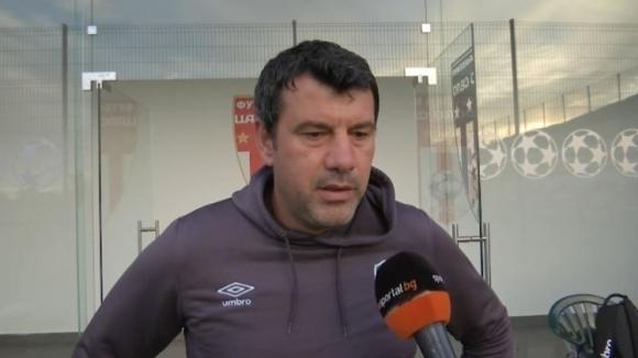 Помощник-треньорът на Лудогорец II Галин Иванов говори пред клубната телевизия
