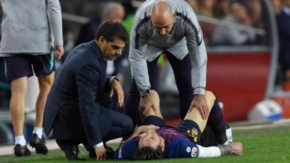 Суперзвездата на Барселона Лионел Меси ще бъде извън терена за
