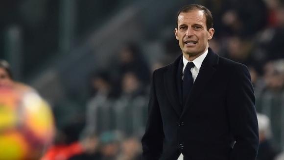 Треньорът на Ювентус Масимилиано Алегри беше крайно недоволен от равенството