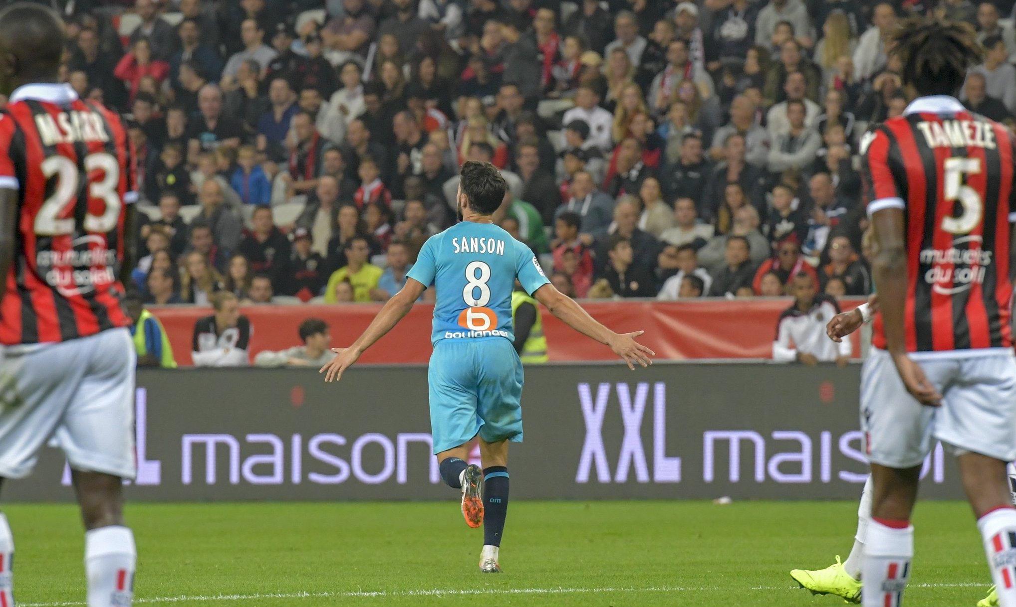 Без доста основни футболисти и с немалко късмет, Олимпик Марсилия