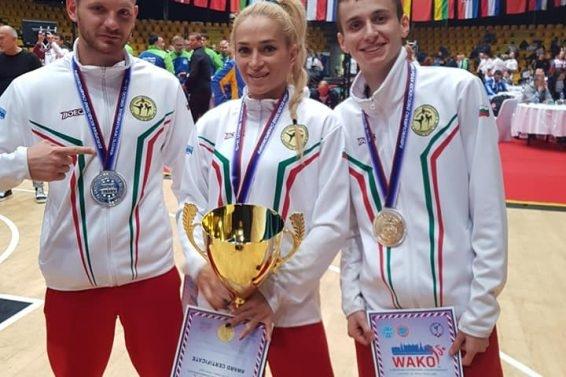 Българският национален отбор по кикбокс се прибра от Братислава, където