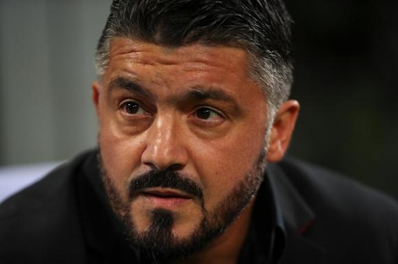 Старши треньорът на Милан Дженаро Гатузо претърпя голямо разочарование, виждайки