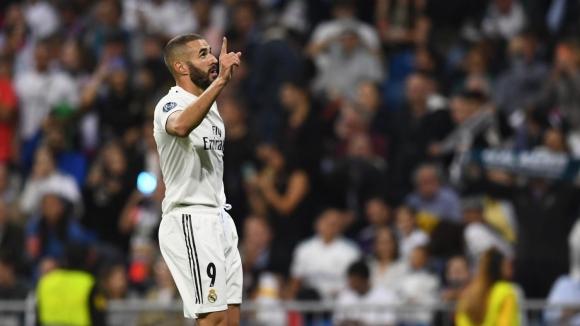 Френският нападател на Реал Мадрид Карим Бензема откри резултата при