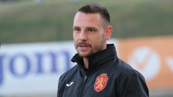 Националът Николай Димитров говори в началото на лагера на отбора