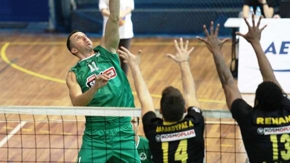 Волейболният национал Боян Йорданов и неговият Панатинайкос (Атина) записаха първа